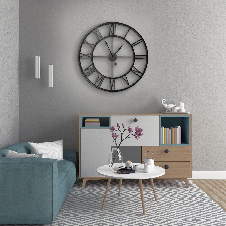 WC2136 - 97cm Giant Vintage Iron Clock