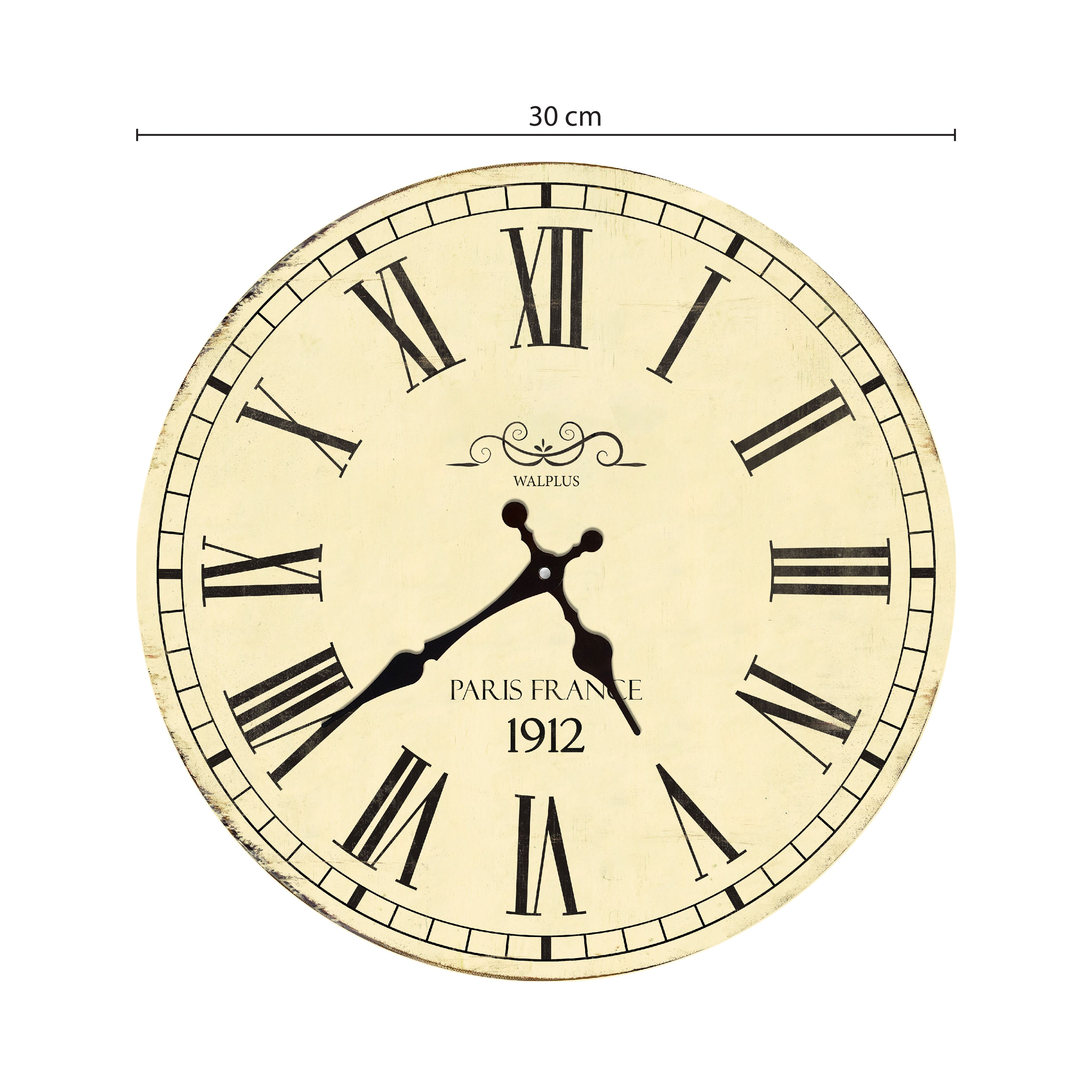 Vintage France Roman Numeral Wall Clock, DIY Art, Kitchen Decorations, Bedroom, Home Design, House Décor, Living room ideas
