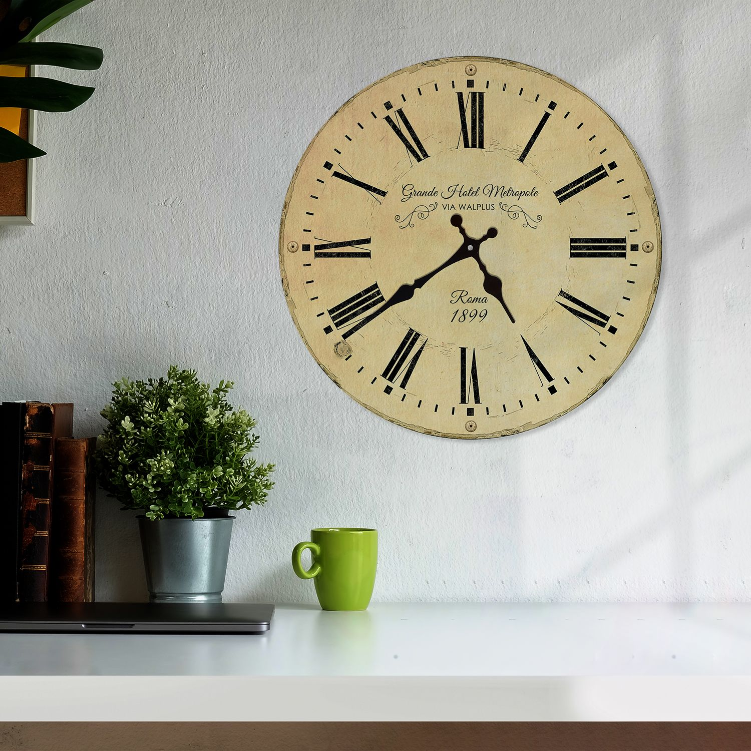 WC3013 - Vintage Antique Roma Wall Clock