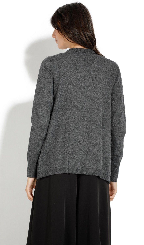 William De Faye Shawl Neck Cardigan with Pockets in Grey