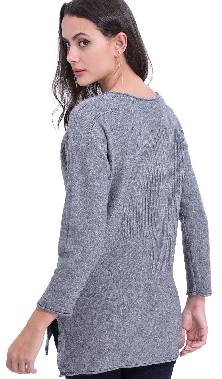 William De Faye Round Neck Tunic in Grey