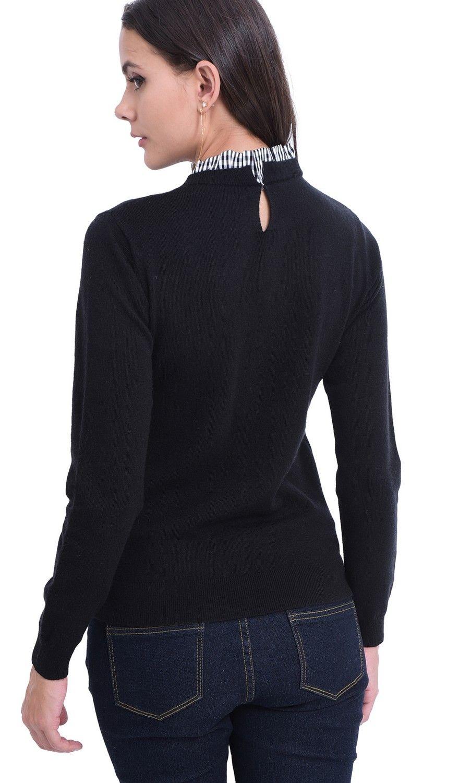 William De Faye High Neck Sweater in Black