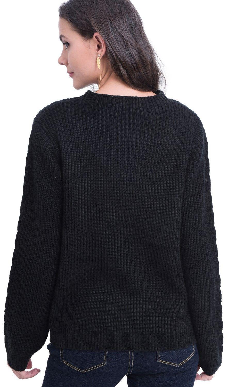 William De Faye Rollneck Twisted Yarn Sweater in Black