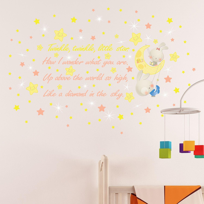 Walplus Wall Sticker Twinkle Twinkle Little Star Decals Art Decoration with Swarovski Crystals
