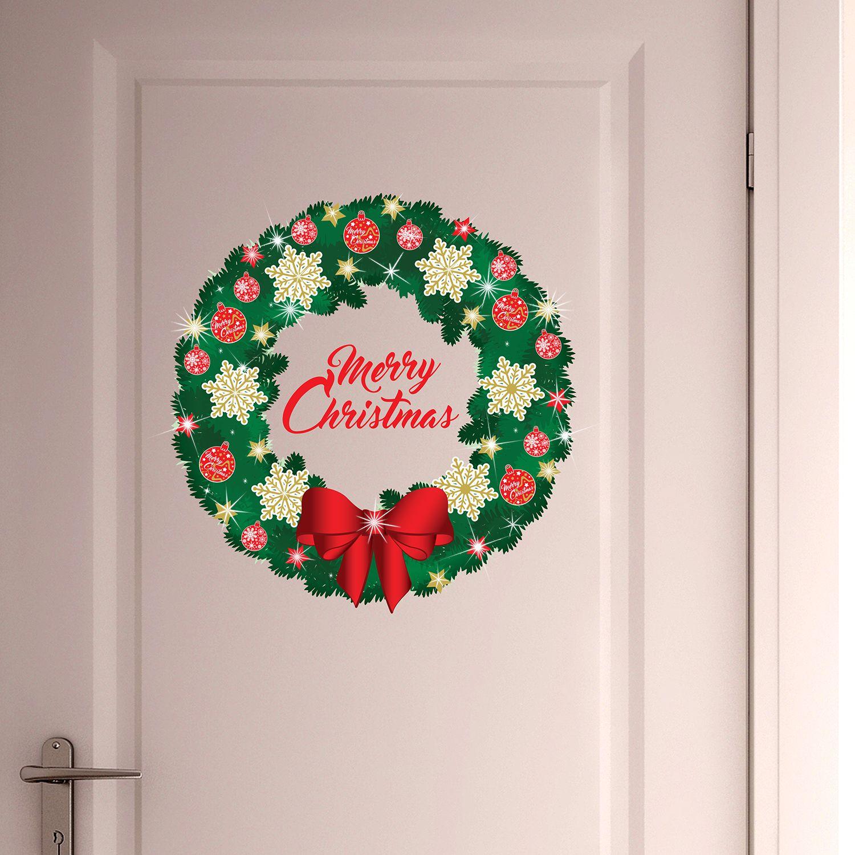 Walplus Christmas Garland Wall Sticker with Swarovski Crystals