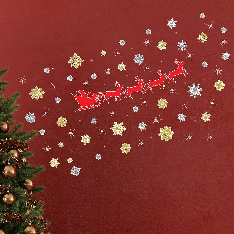 Walplus Christmas Reindeer Snowflakes with Swarovski Crystaks