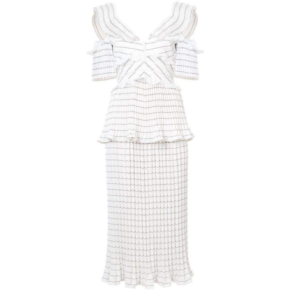 Self-Portrait Monochrome Stripe Dress