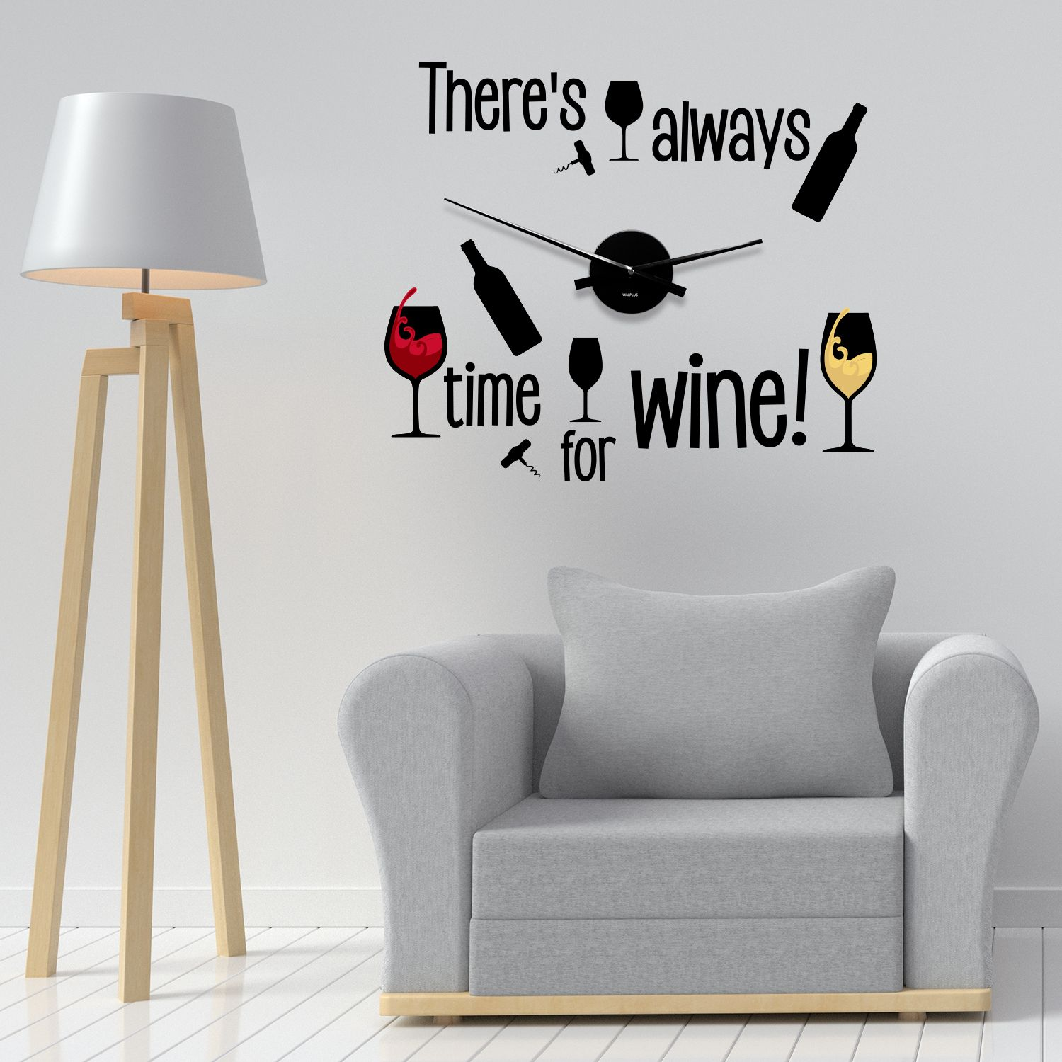 WC2103 - COM - WS3062 + WC2050 - Time for Wine Wall Clock