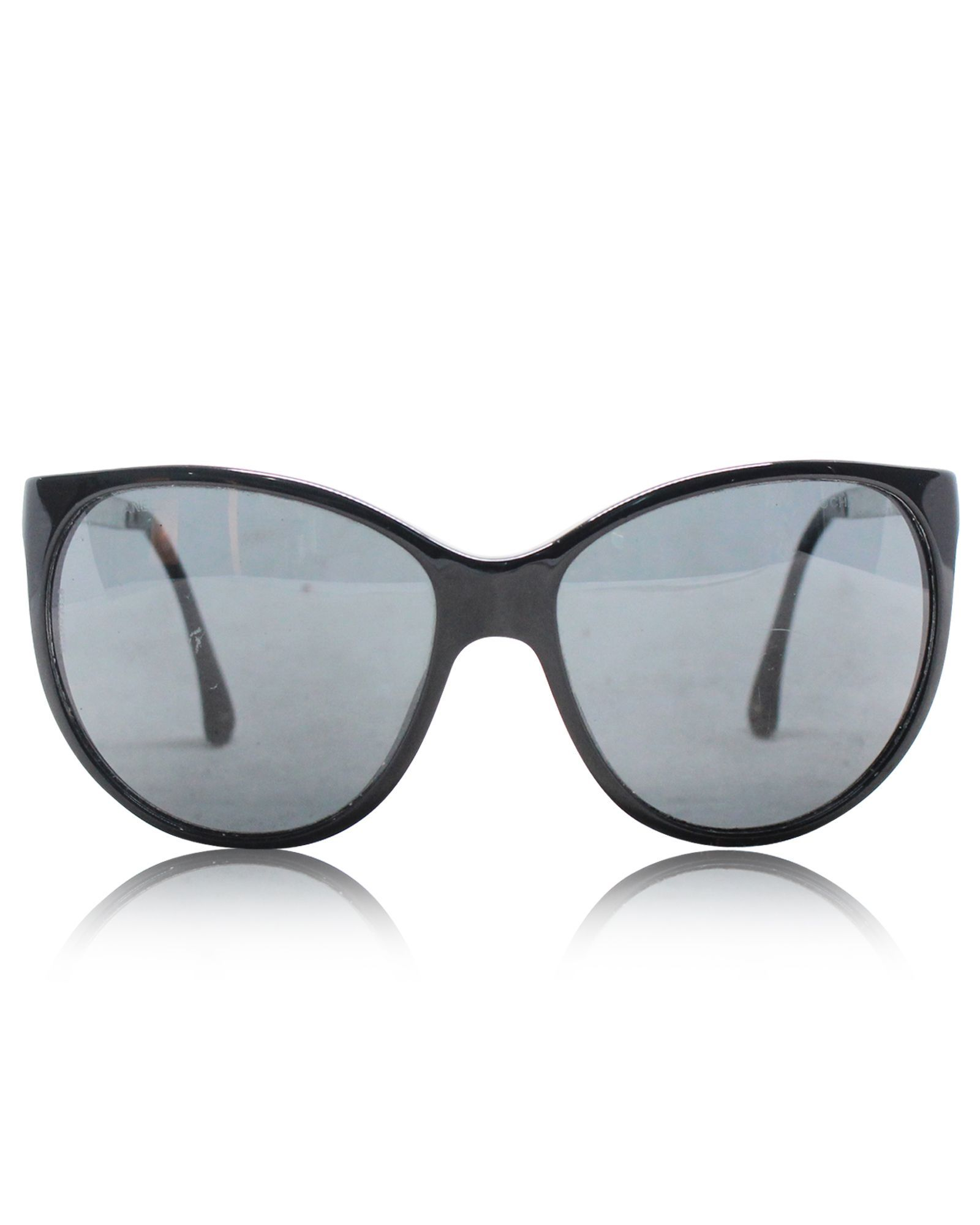 Chanel Butterfly Black Sunglasses -Pre Owned Condition Gently Loved