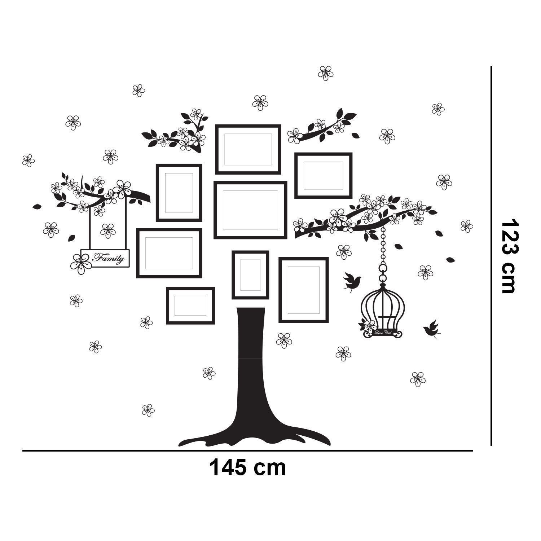 Walplus Wall Sticker Decal Huge Family Tree with Swarovski Crystals