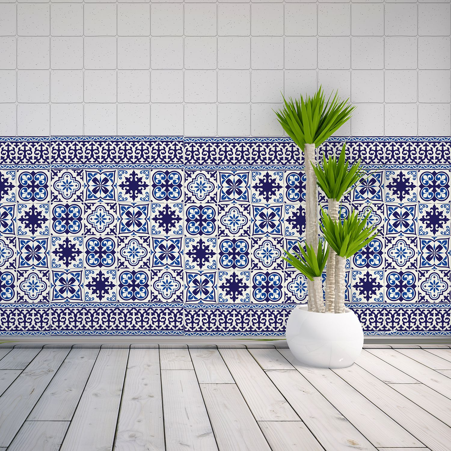WT1010 - Granada Tiles Wall Stickers - 10 cm x 10 cm - 24 pcs.