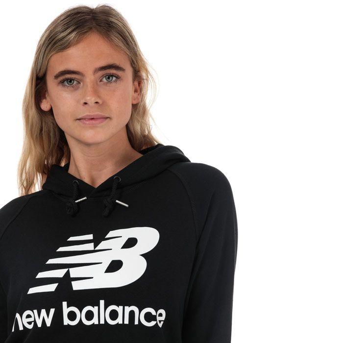 Women's New Balance Essentials Pullover Hoody in Black