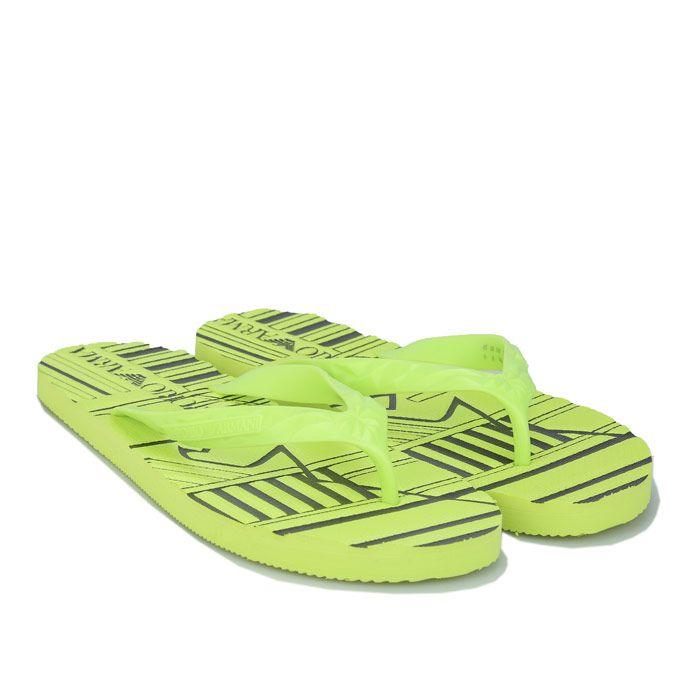 Men's Armani Flip Flops in Yellow