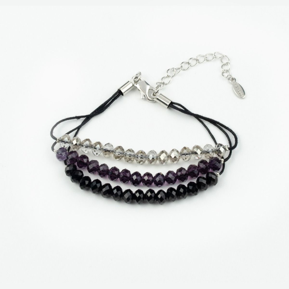 Fiorelli Fashion Three Tone Beaded Cord Bracelet 18cm + 5cm
