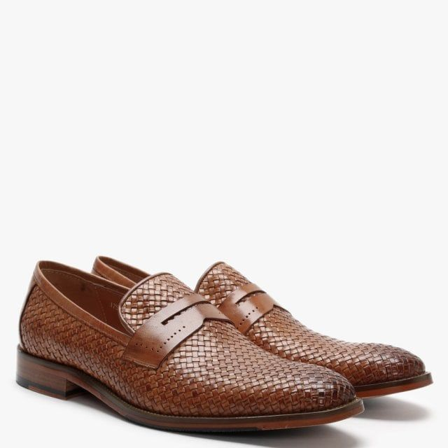 Daniel Xingbang Leather Woven Loafers