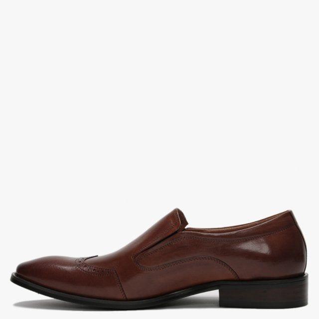 Daniel Xone Leather Brogue Loafers