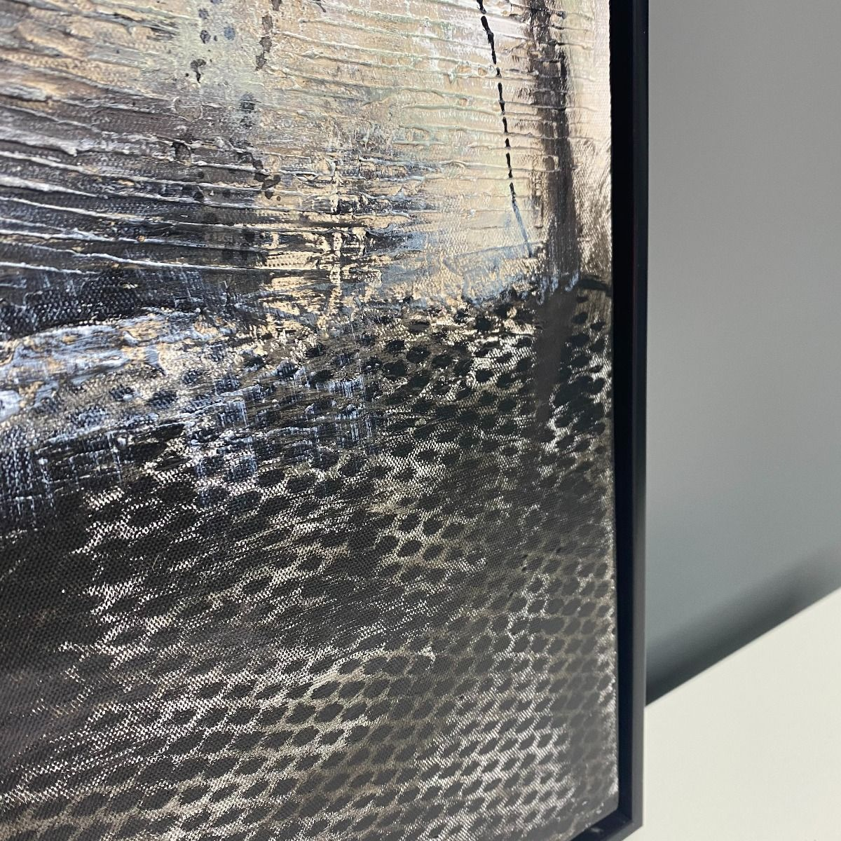 Abstract Painted Canvas with Black Frame 90x120