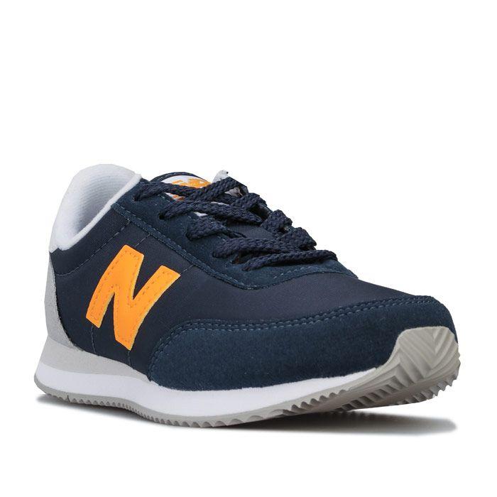 Boy's New Balance Children 720 Trainers in Navy Yellow