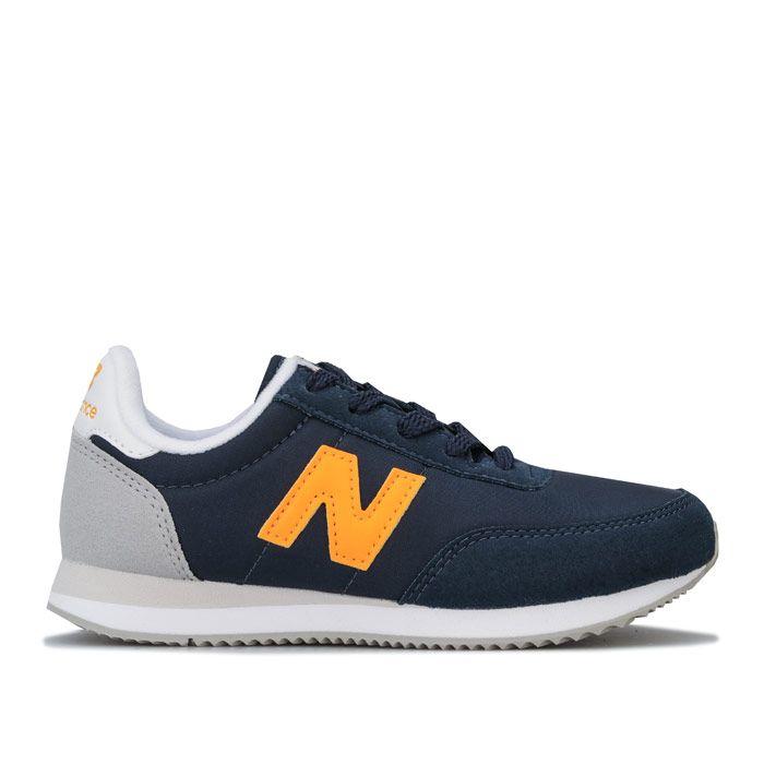 Boys' New Balance Junior 720 Trainers in Navy Yellow
