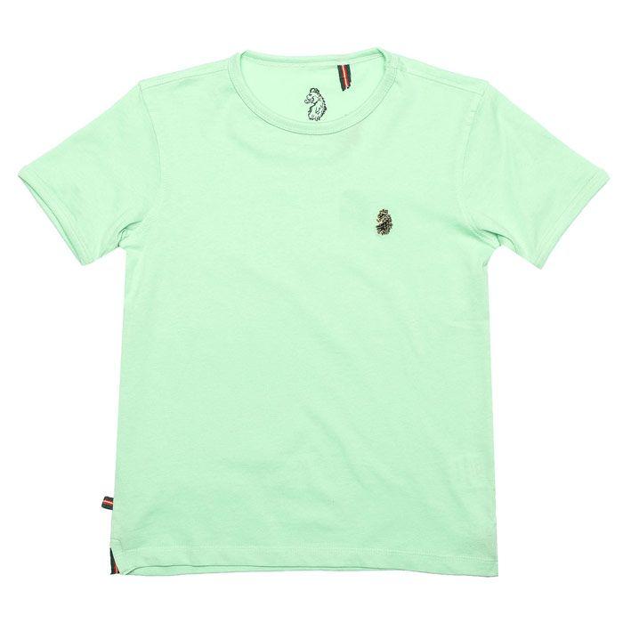 Boy's Luke 1977 Junior Trouser Snake Crew T-Shirt in Mint