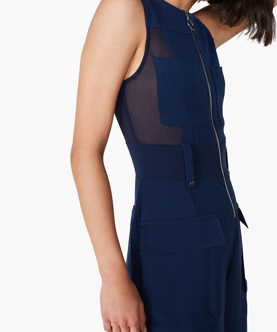 Penfold navy wide-leg jumpsuit
