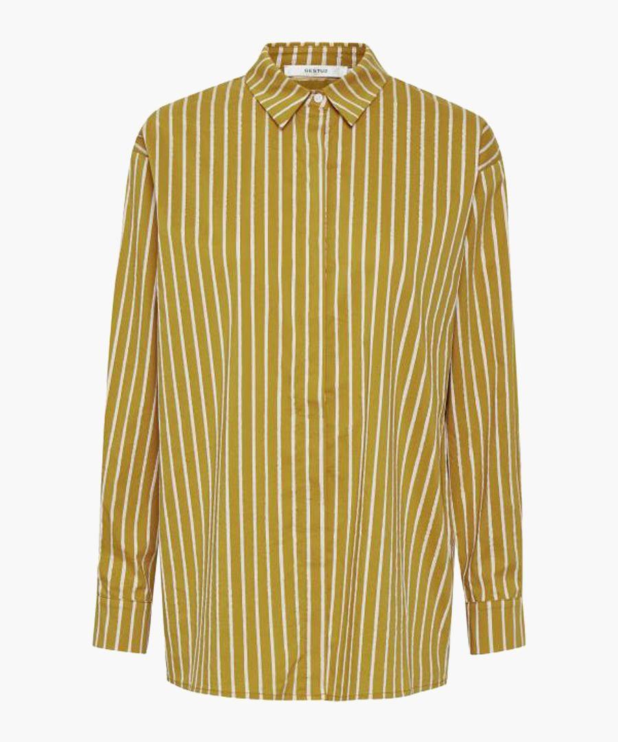 Yellow stripe long sleeve shirt