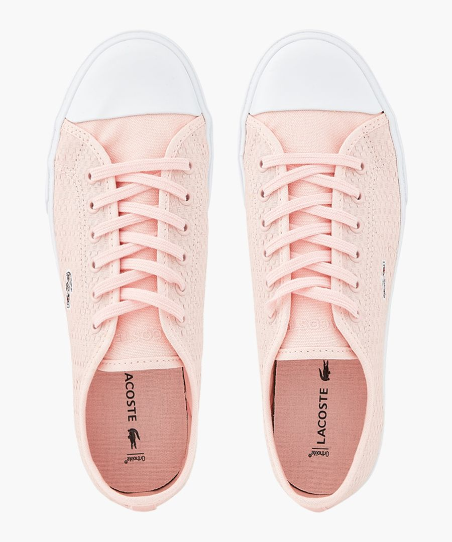 Light pink leather trainers