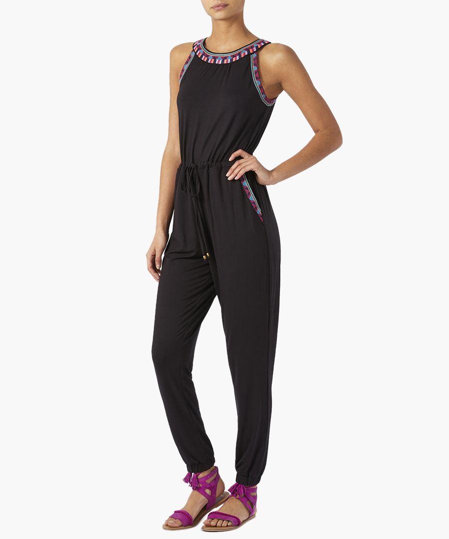 Emmi black embroidered jumpsuit