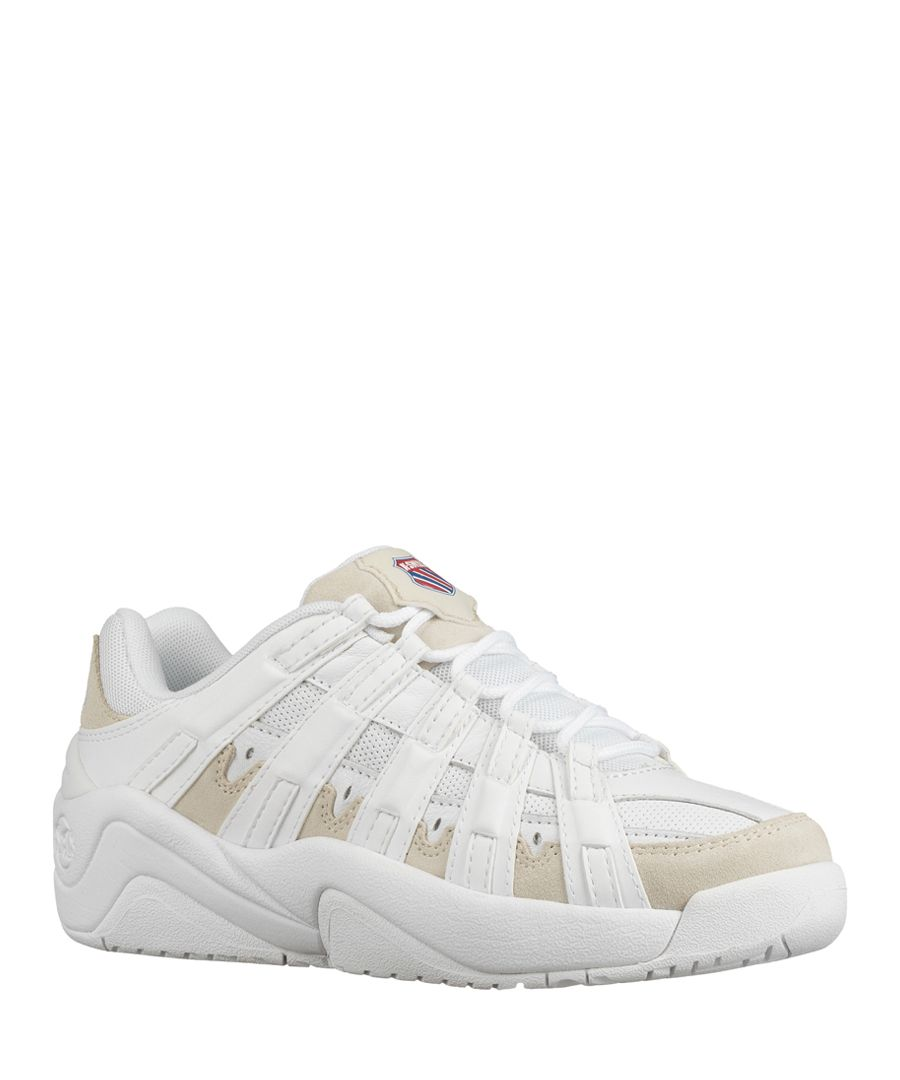 Endorsement white leather trainers
