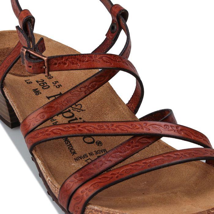 Women's Papillio Bella Leather Sandals Narrow Width in Brown
