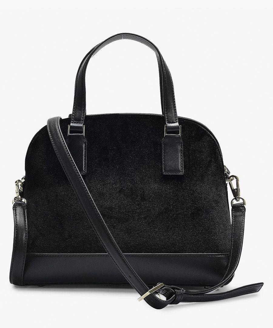 Cameron street lottie black velvet bag