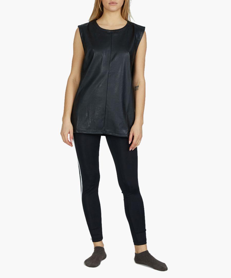 Super black front-seam vest