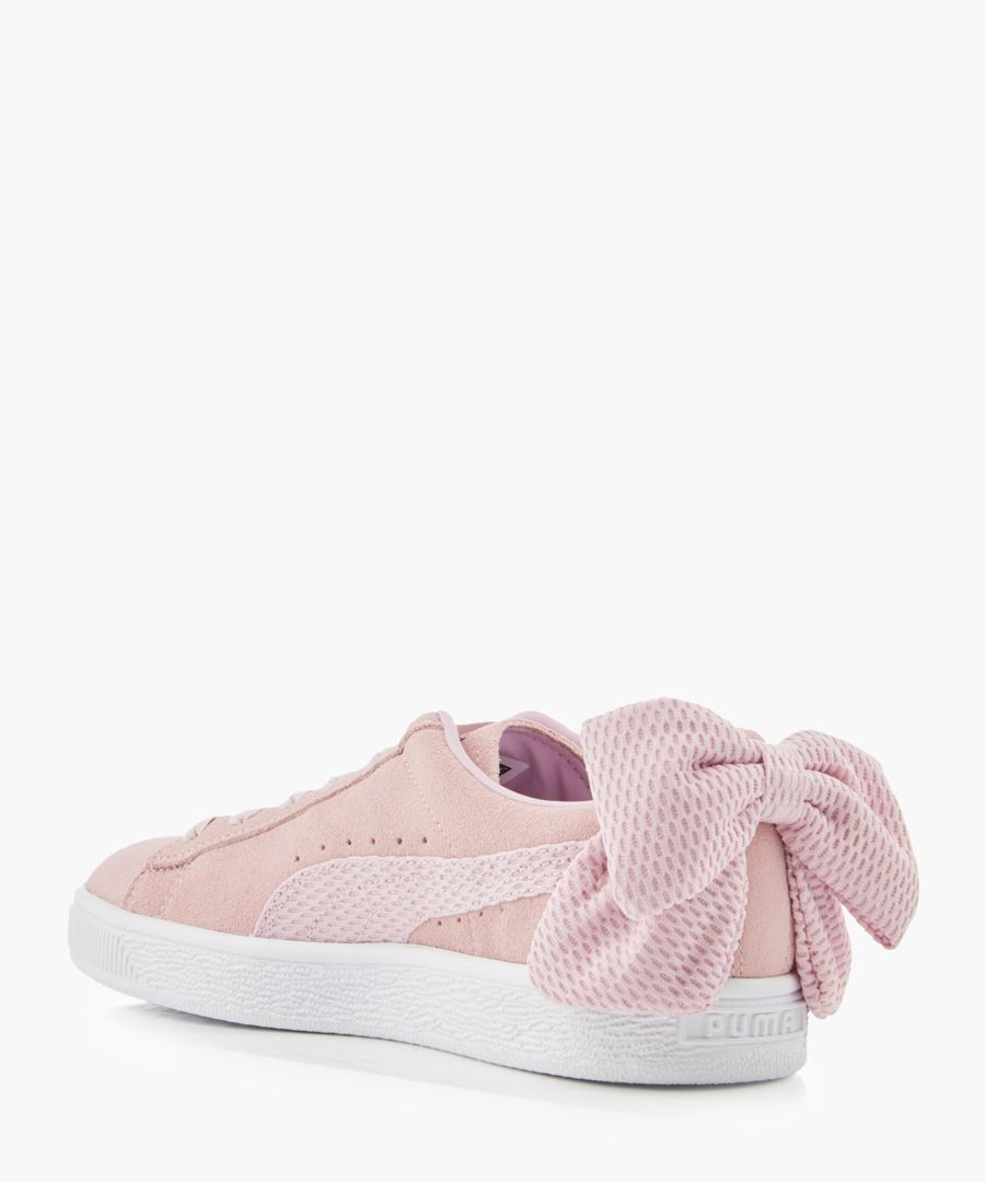 Uprising rose bow suede sneakers