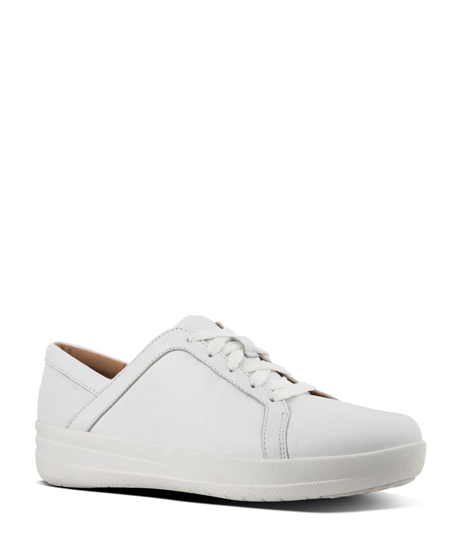 F-Sporty II urban white leather trainers
