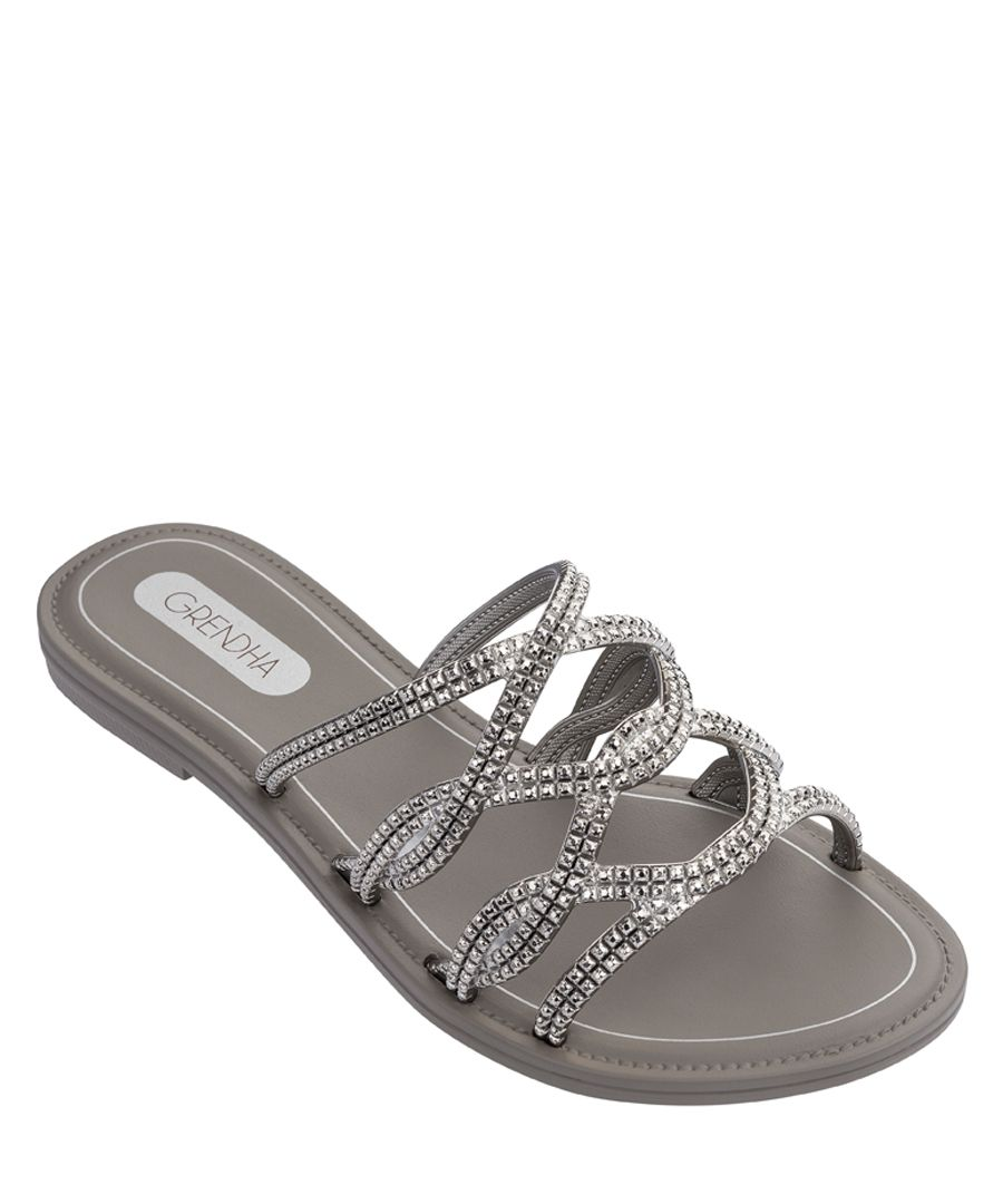 Beauty Slide Silver-tone sandals