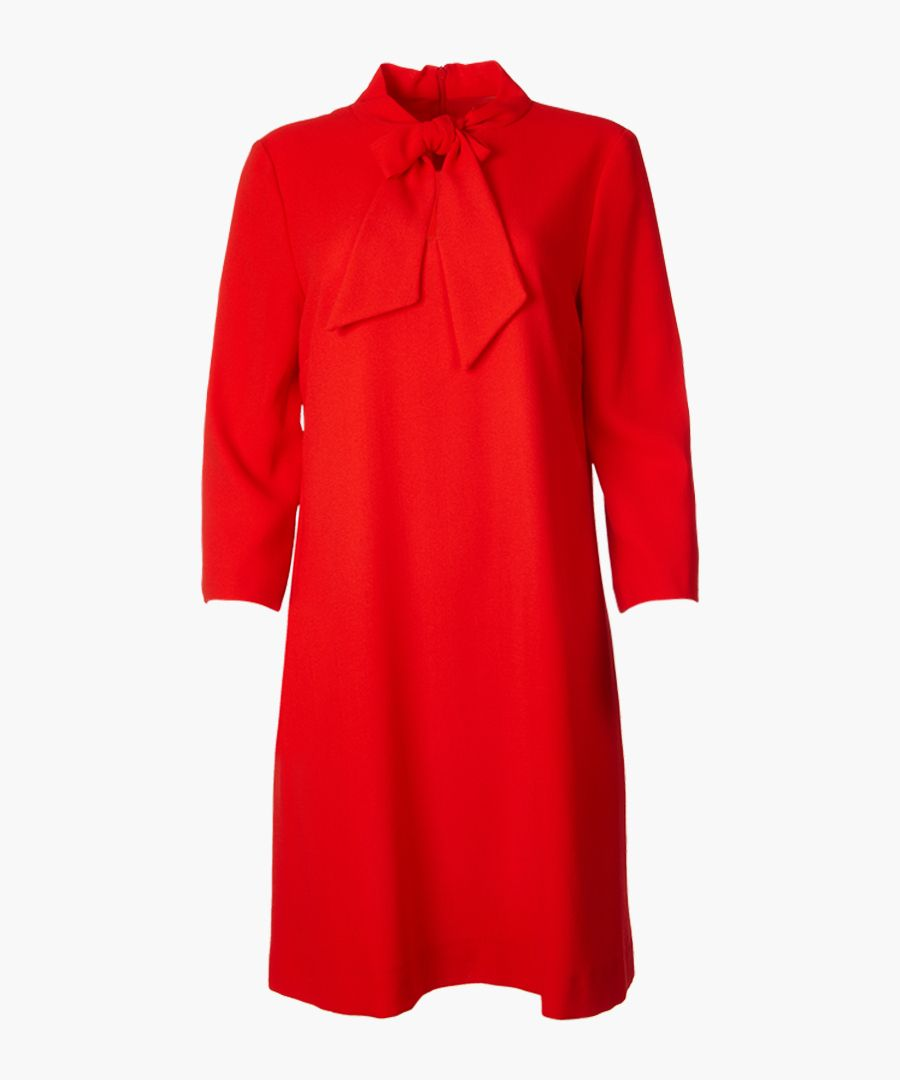 Ginny vintage red pure wool crepe tunic
