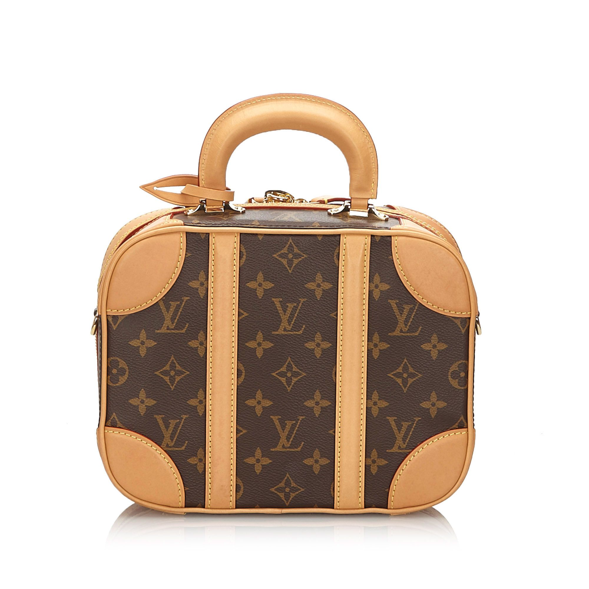 Vintage Louis Vuitton Monogram Valisette PM Brown