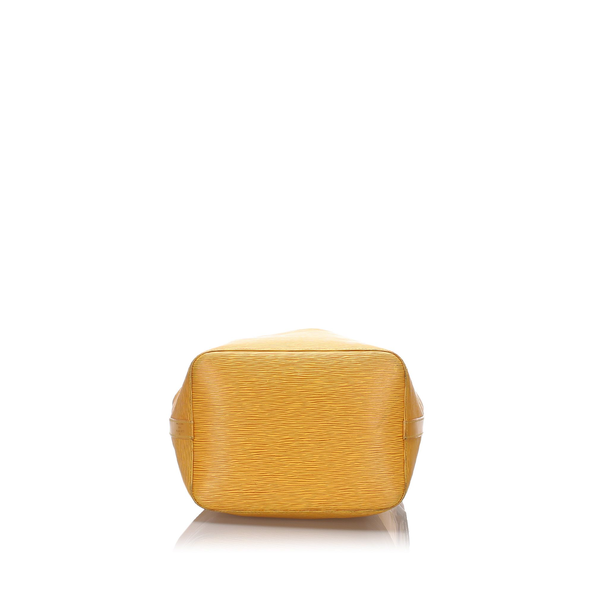 Vintage Louis Vuitton Epi Petit Noe Yellow
