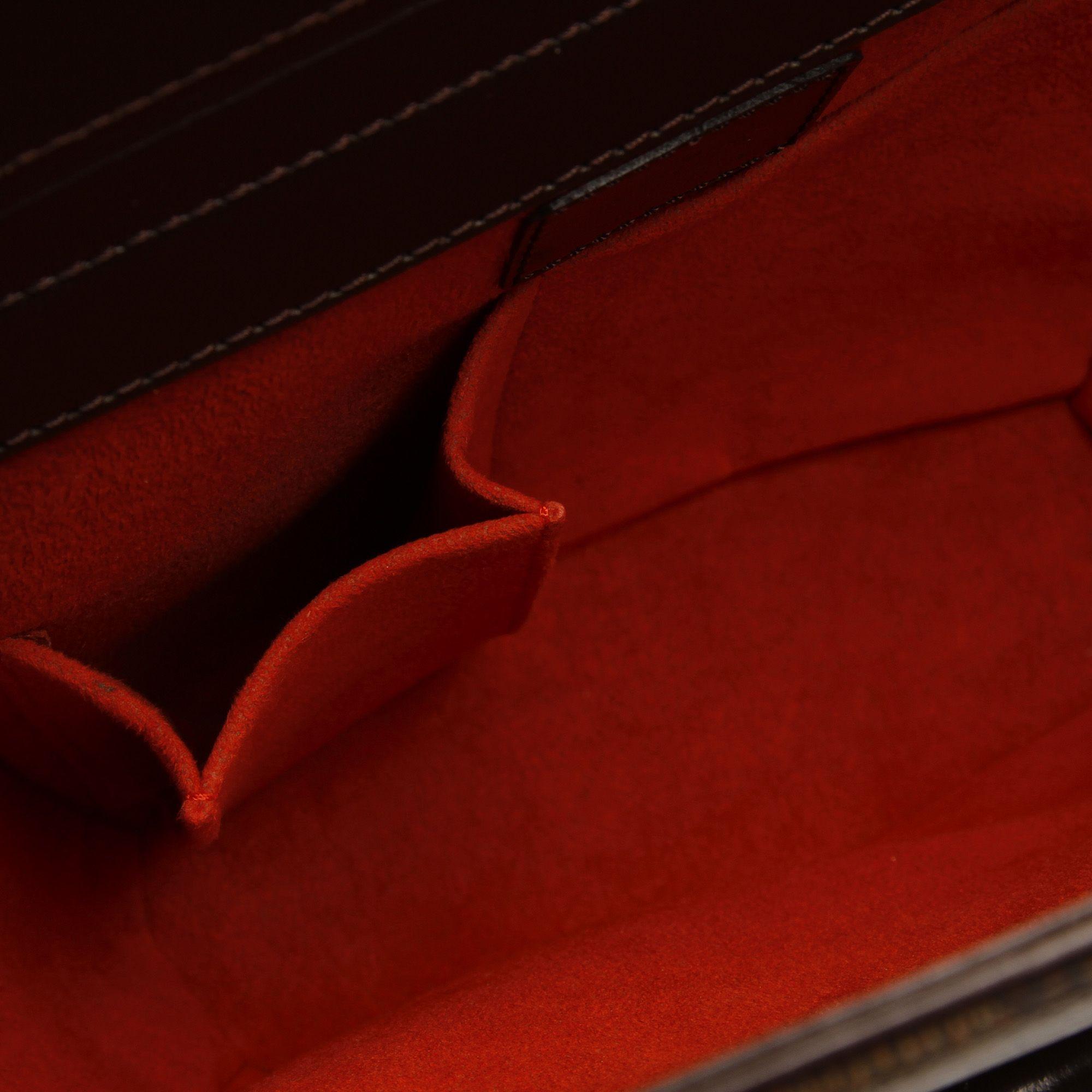 Vintage Louis Vuitton Damier Ebene Sarria Seau Brown
