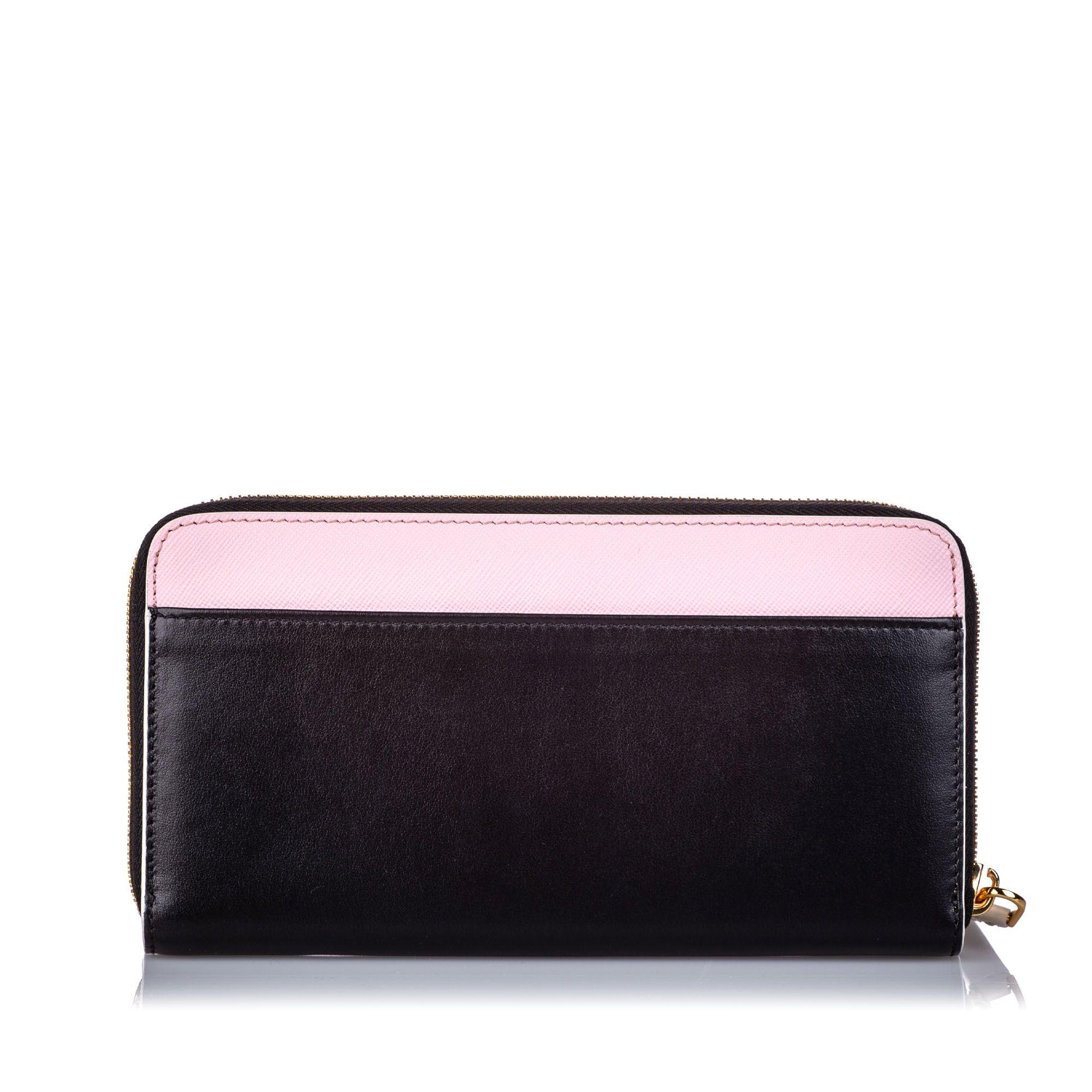 Marni Leather Zip Wallet Black