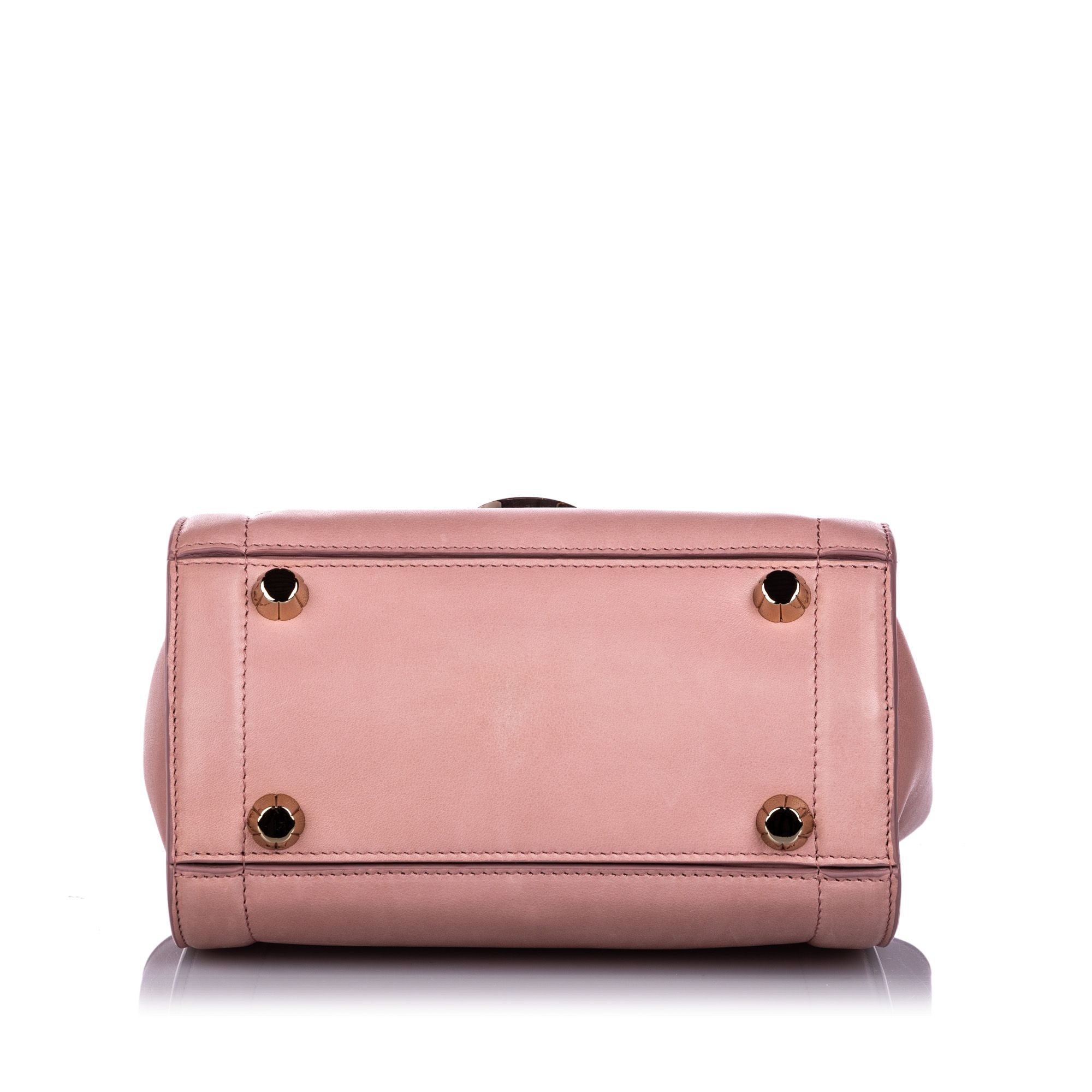 Vintage Ferragamo Calfskin Sofia Rainbow Satchel Pink