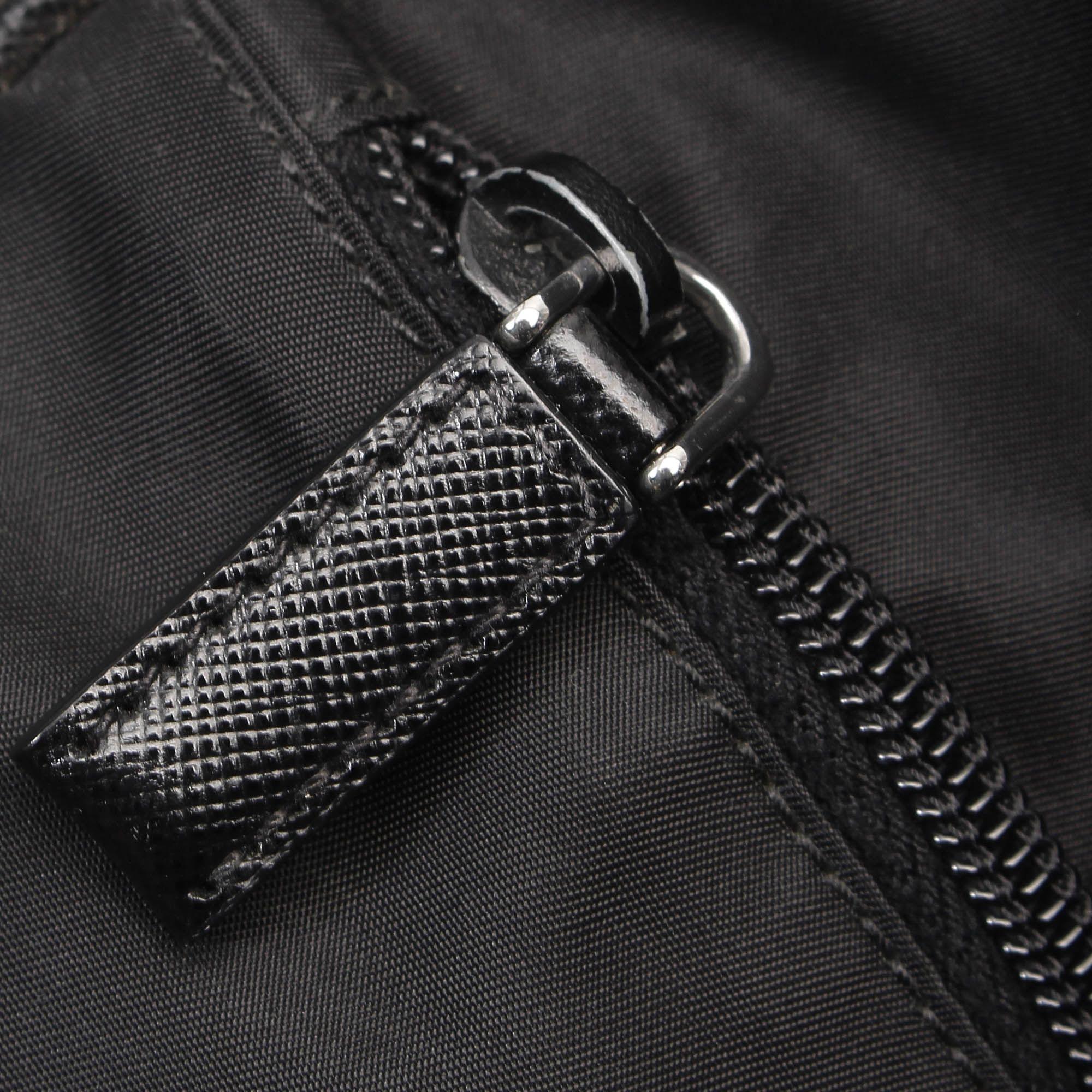 Vintage Prada Tessuto Business Bag Black