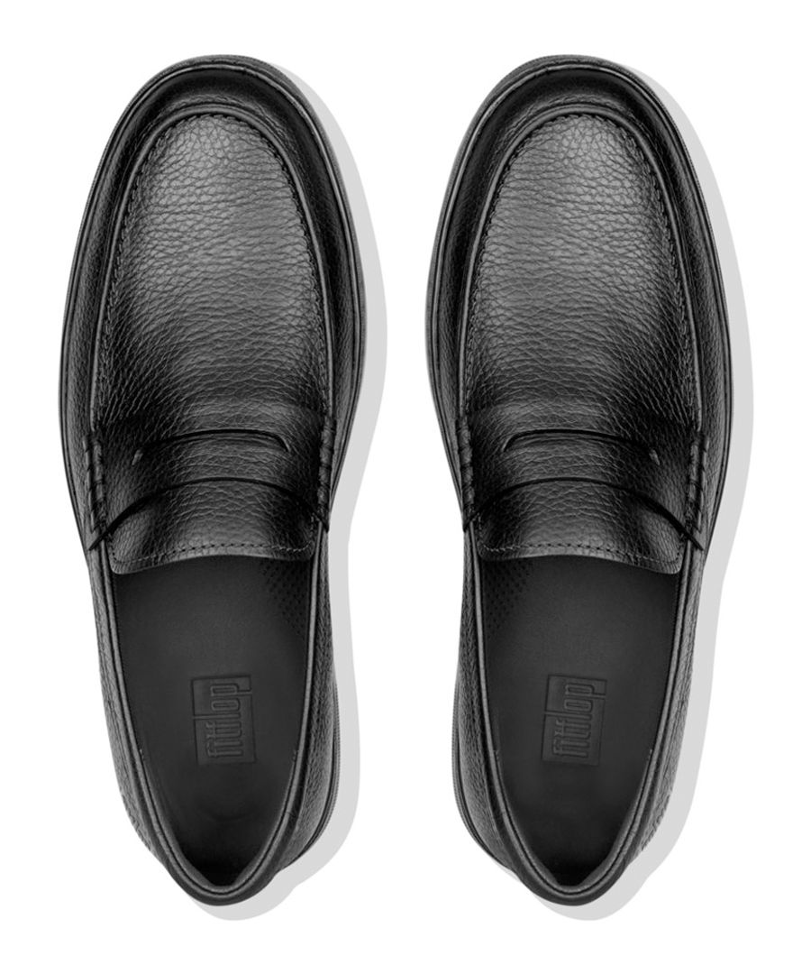 Boston black leather loafers