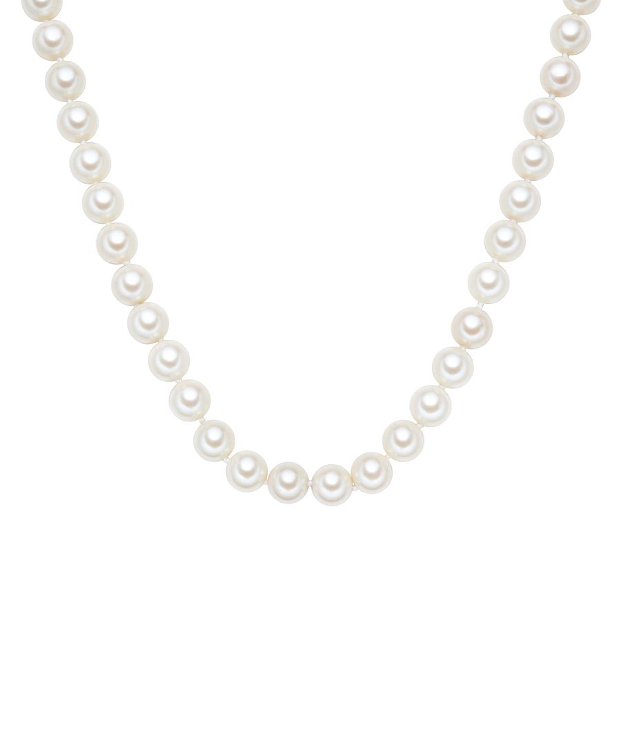 1.2cm white pearl 3-layer necklace