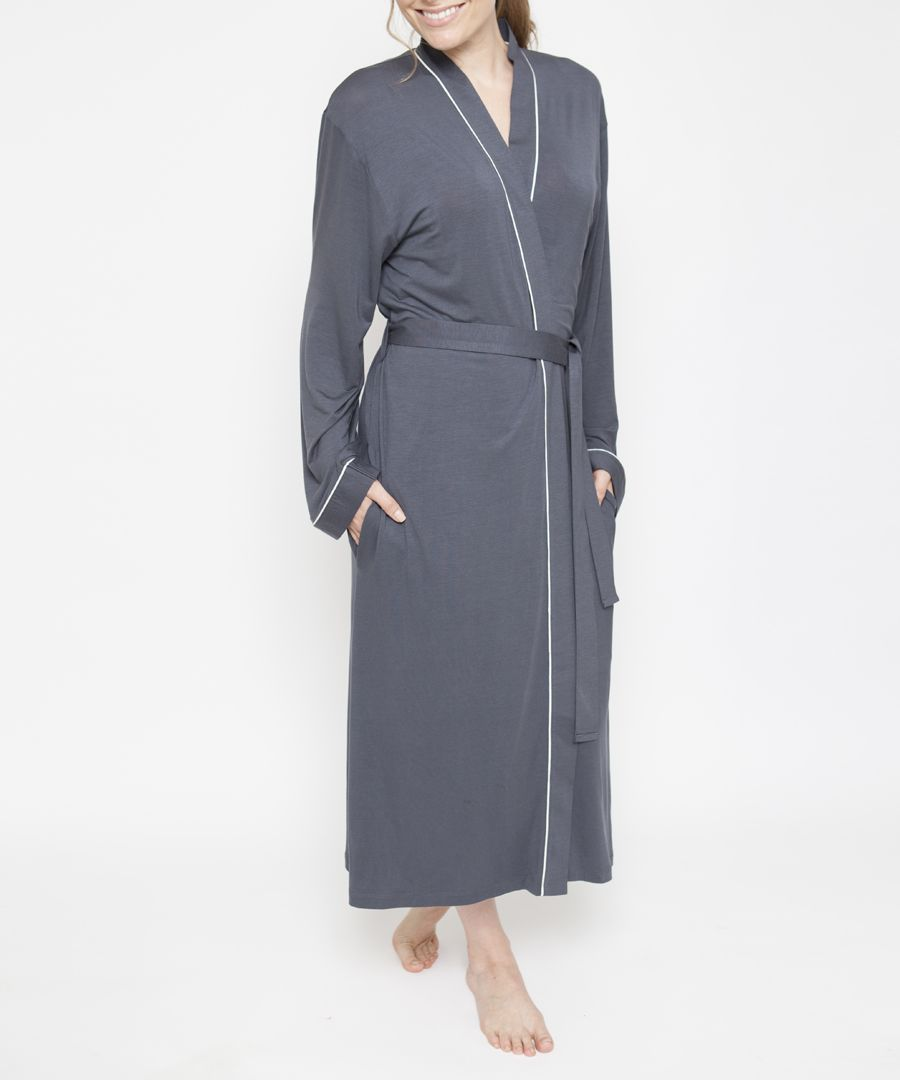 Aspen grey long sleeve robe
