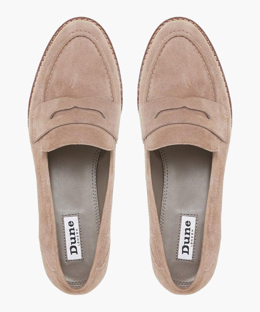 Gabyrel taupe suede loafers