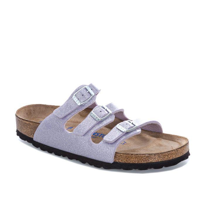Women's Birkenstock Florida Soft Footbed Sandals Narrow in Lavender