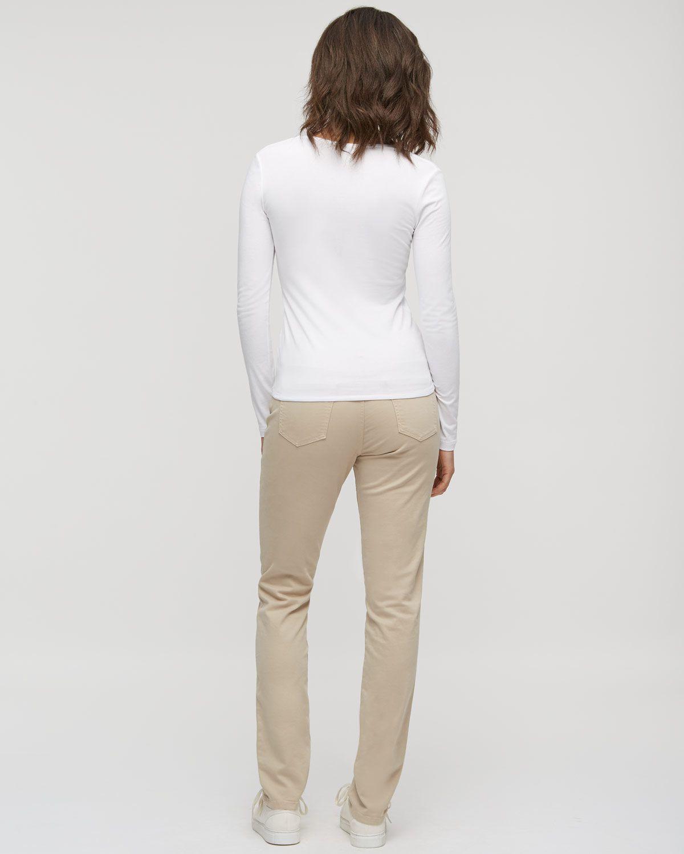 Twill Straight Leg Jeans
