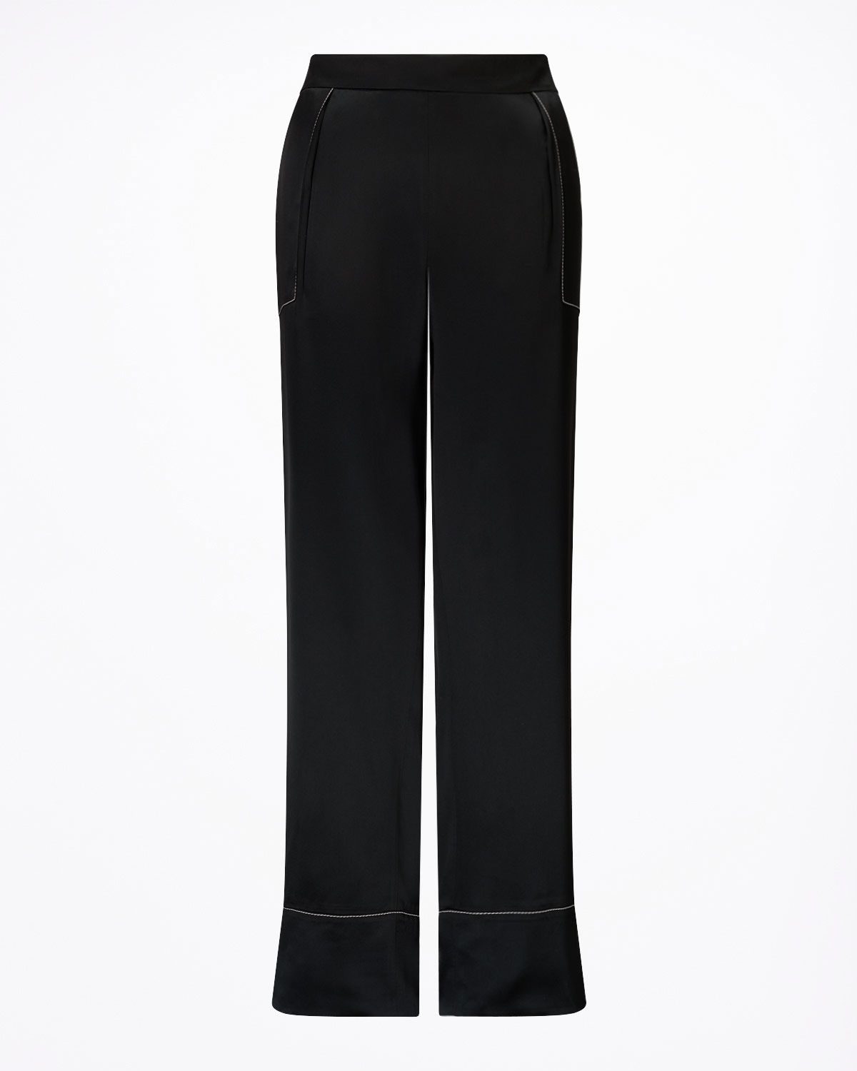 Stitch Detail Wide Leg Trouser