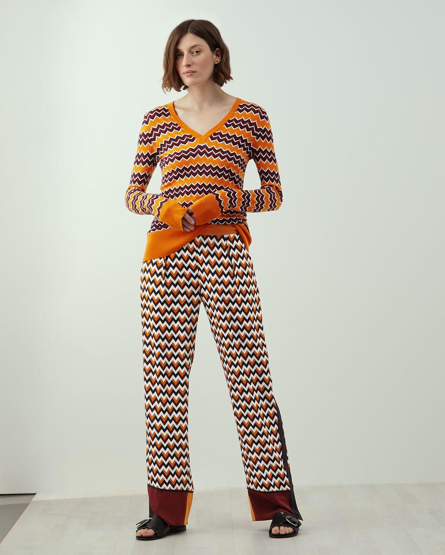 A - Chevron Print Trouser